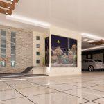 به کاربردن سنگ ساختمانی در پارکینگ